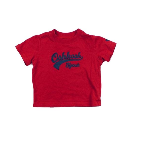 Osh Kosh Red T-Shirt, Size 3 Months
